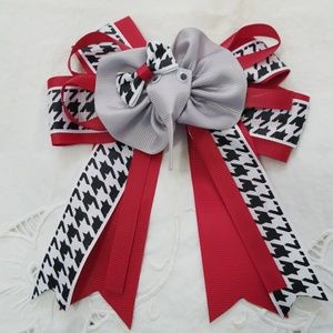 Other - Elephant hairbow.  Red, gray and houndstooth
